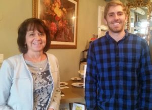 Ann and Pete Boryla are regulars at the new establishment. Boryla's son, Ryan, buses tables for the cafe.