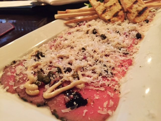 Beef Carpaccio at The Chop House at Plum Creek